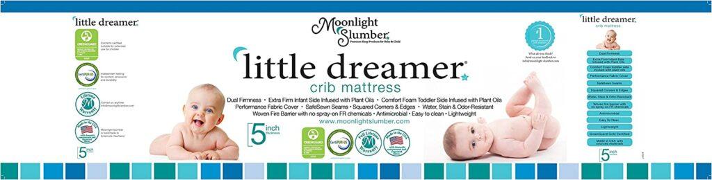 Moonlight Slumber Crib Mattress With Little Dreamer Dual Firmness